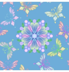 elegant floral lace seamless vector image vector image
