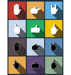 Hand icon set vector image