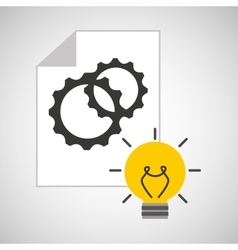 idea gear programming engineer vector image
