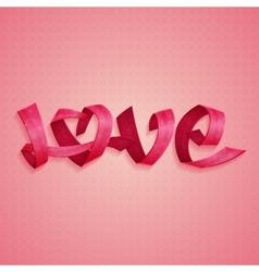 Love Ribbons vector image vector image