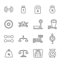measurement weight scales libra balance thin vector image vector image