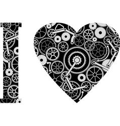 mechanic love vector image vector image