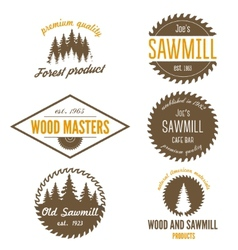 Set of logo labels badges and logotype elements vector image vector image