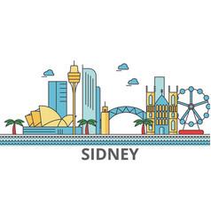 Sidney city skyline buildings streets vector