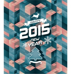 Abstract retro modern happy new year background vector image vector image