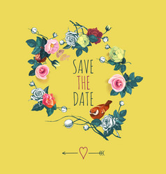 Beautiful save the date design template with vector