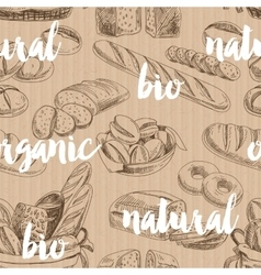 bread retro seamless pattern vector image vector image