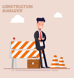businessman is a manager or a foreman is standing vector image