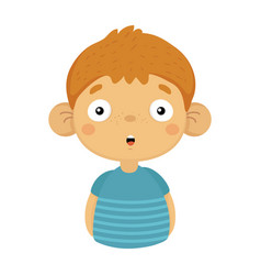 impressed and surprised cute small boy with big vector image