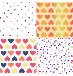 Bright seamless patterns set vector image