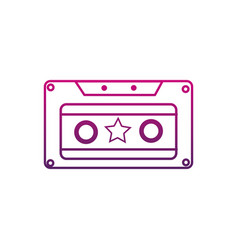 color line old cassette retro object stereo vector image vector image