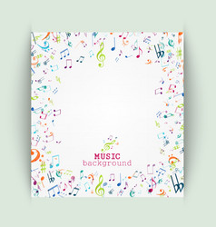 Colorful music notes background vector