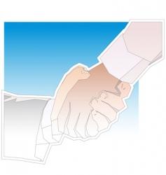 handshake outline vector image vector image