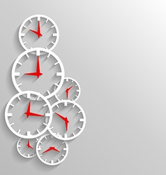 Paper clock abstract background poster or flyer vector image