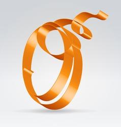 Silk ribbon letter abc vector image vector image