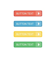 Flat Buttons Set vector image vector image