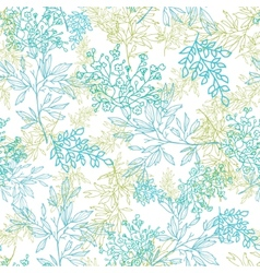 Scattered blue green branches seamless pattern vector image vector image