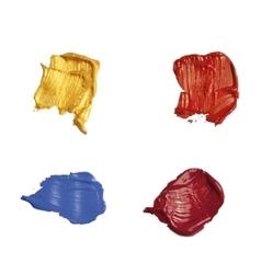 Set of brush strokes vector image