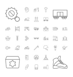 37 industrial icons vector
