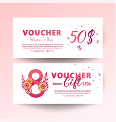 8 march voucher vector
