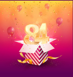 84th years anniversary design element vector image