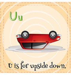 A letter U vector