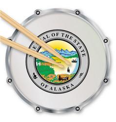 Alaska snare drum vector