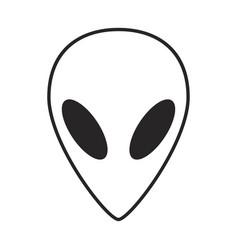 alien ufo face outline symbol icon design vector image