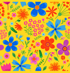 Amazing floral seamless pattern vector