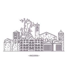 andorran architecture landmarks vector image