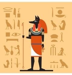 Anubis flat banner vector image