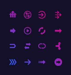 arrows set design elements vector image