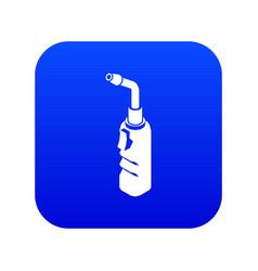 Avto welding torch icon blue vector