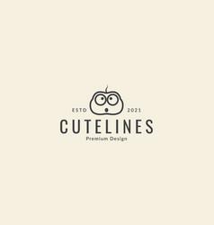Baby insect animal cartoon cute head lines logo vector
