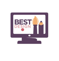 Best design promotion logotype cartoon thick vector