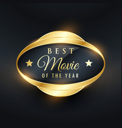 best music of the year golden label and badge vector image