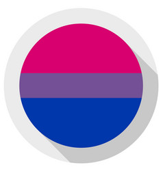 Bi pride flag round shape icon on white background vector