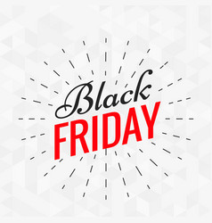 black friday stylish text with lines effect vector image