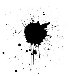 Black ink splatter background design vector