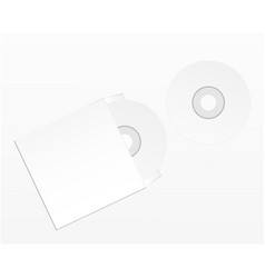 blank compact disk isolated on white background vector image