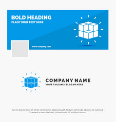 Blue business logo template for box labyrinth vector