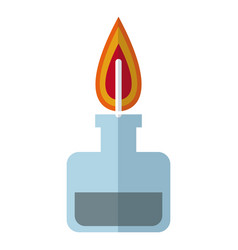 Bunsen burner flame laboratory chemistry vector