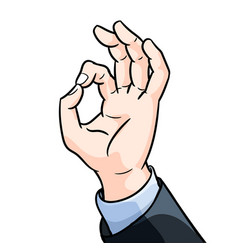businessman hand gesture okey vector image