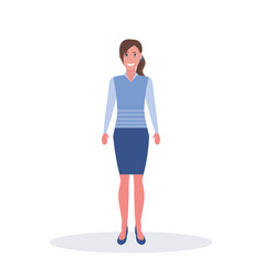 businesswoman standing pose business woman office vector image