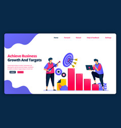 cartoon banner template for achieve business vector image