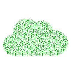 cloud shape of eco man icons vector image