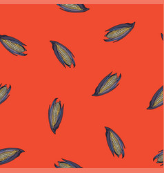 coloured corn seamless red pattern vector image