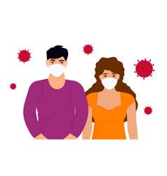 coronavirus novel virus 2019-ncov concept of vector image