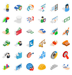 Creative idea icons set isometric style vector