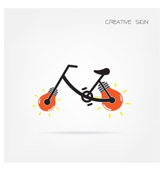 Creative light bulb and bicycle vector image